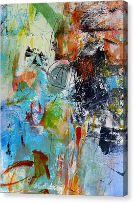 Canvas Print featuring the painting Patent by Katie Black