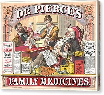 Patent Medicine Ad 1874 Canvas Print by Padre Art