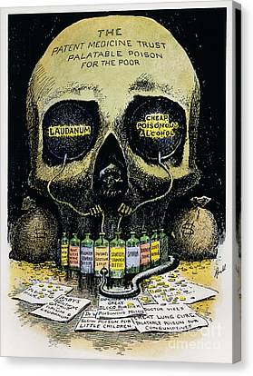 Patent Medicine Cartoon Canvas Print by Granger