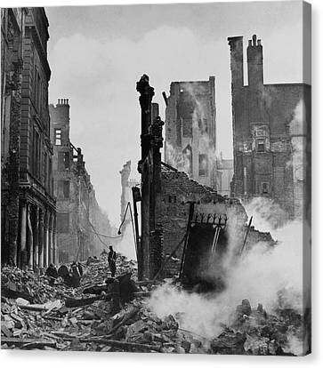 Paternoster Row After Bombing Canvas Print