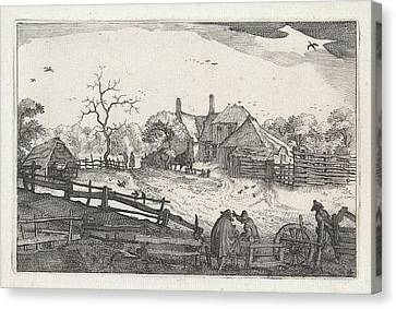 Paters Inn Near A Country Road, View Near Haarlem Canvas Print by Artokoloro