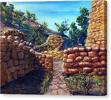 Path At Old Mission Canvas Print by Lenora  De Lude