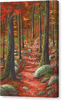 Path In The Autumn Forest Canvas Print by Frank Wilson