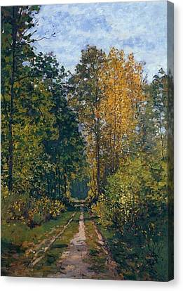 Path In The Forest Canvas Print by Claude Monet