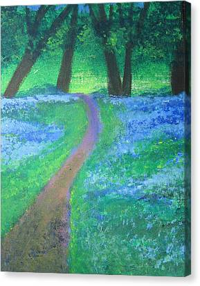 Path In Woods Canvas Print by Diana Riukas