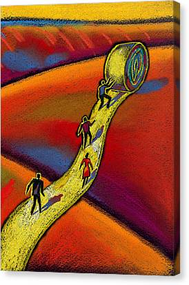 Path Canvas Print by Leon Zernitsky