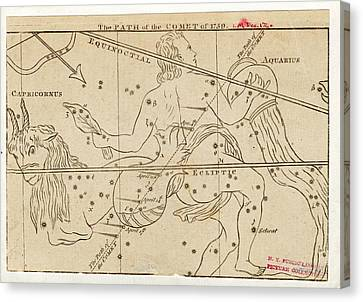 Path Of Halley's Comet Canvas Print