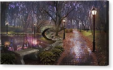 Lamp Post Canvas Print - Path Of Inner Peace by David M ( Maclean )