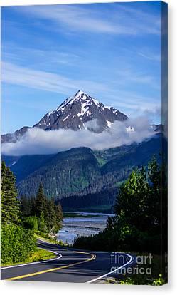 Path Through Alaska Canvas Print by Jennifer White