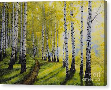 Harmonious Canvas Print - Path To Autumn by Veikko Suikkanen
