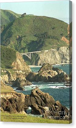 Path To Bixby Bridge Canvas Print by DJ Laughlin