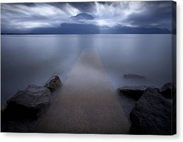 Waterclouds Canvas Print - Path To Nowhere by Dominique Dubied