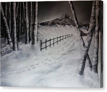 Path To Solitude Canvas Print by Valorie Cross