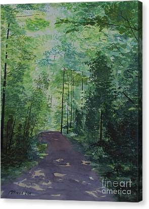 Canvas Print featuring the painting Path To The River by Martin Howard