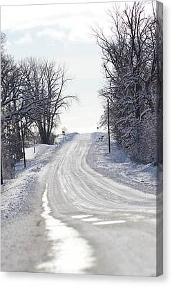 Canvas Print featuring the photograph Path To The Unknown by Dacia Doroff