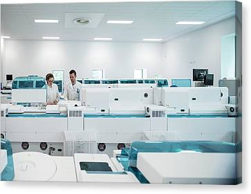 Pathology Canvas Print - Pathology Laboratory by Aberration Films Ltd