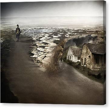 Paths Canvas Print by Akos Kozari