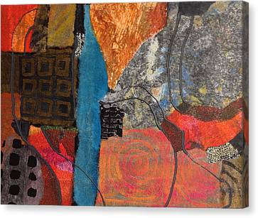 Canvas Print featuring the mixed media Paths by Catherine Redmayne