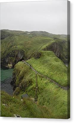 Mystical Landscape Canvas Print - Pathway Carrick-a-rede Northern Ireland by Betsy Knapp