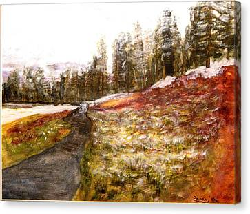 Pathway In The Tetons Canvas Print