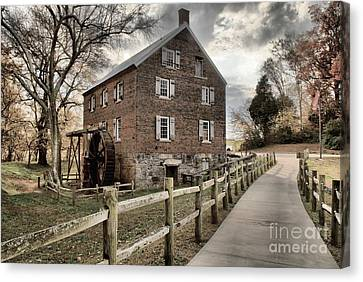 Pathway To Kerr Grist Mill Canvas Print by Adam Jewell
