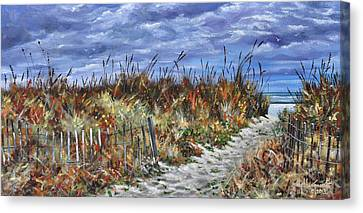Pathway To North Myrtle Beach Canvas Print by Craig T Burgwardt