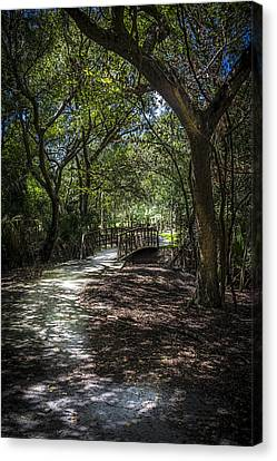 Pathway To The Bridge Canvas Print by Marvin Spates