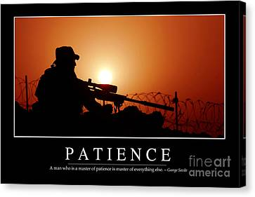 Patience Inspirational Quote Canvas Print by Stocktrek Images