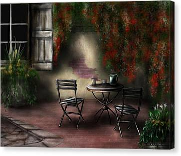 Patio Garden Canvas Print