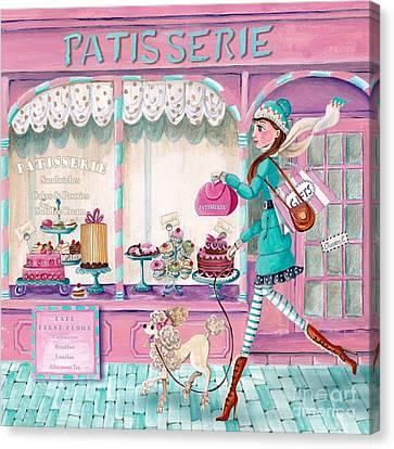 Patisserie Canvas Print - Patisserie by Caroline Bonne-Muller