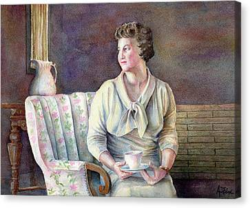 Canvas Print featuring the painting Patricia by Arthur Fix
