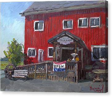 Patricia's Back Barn Canvas Print by Ylli Haruni