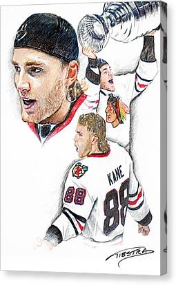 Patrick Kane - The Moment Canvas Print by Jerry Tibstra