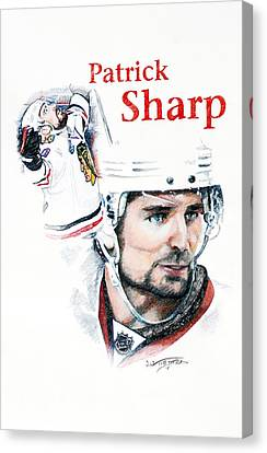 Patrick Sharp - The Cup Run Canvas Print by Jerry Tibstra