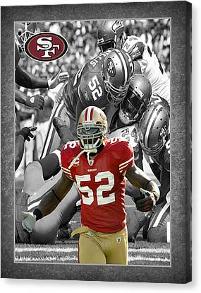 Patrick Willis 49ers Canvas Print by Joe Hamilton