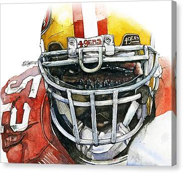 Patrick Willis - Force Canvas Print by Michael  Pattison