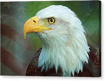 Patriotism Canvas Print - Patriot by Heidi Smith