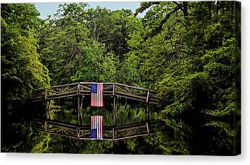 Patriotic Bridge Canvas Print