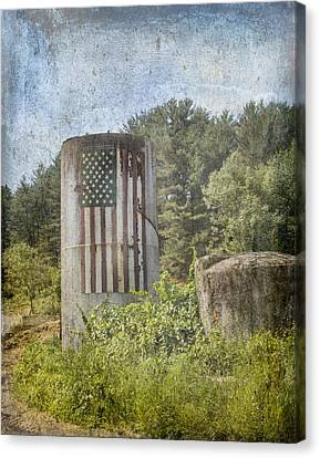 Patriotic Farm Silo Canvas Print
