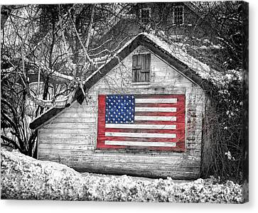 Patriotic American Shed Canvas Print