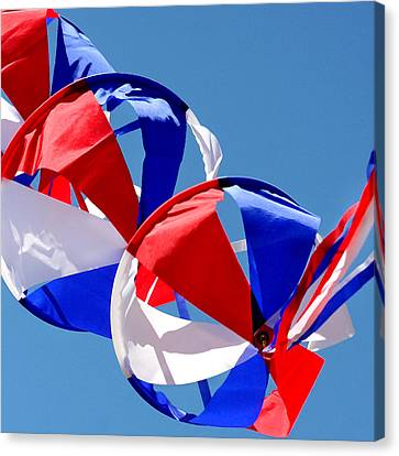 Sail Cloth Canvas Print - Patriotic Kite by Art Block Collections