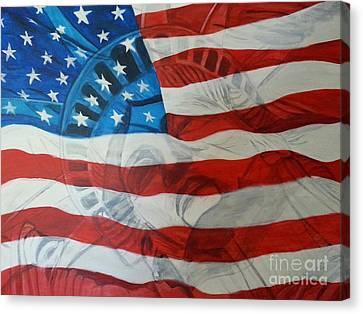 Patriotic Canvas Print by Michelley Fletcher