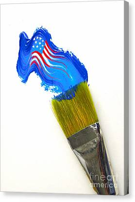 Patriotic Paint Canvas Print by Diane Diederich