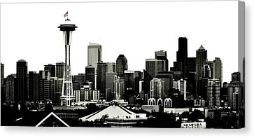 Patriotic Seattle Canvas Print by Benjamin Yeager