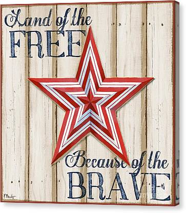 Patriotic Spirit Barn Star I Canvas Print by Paul Brent
