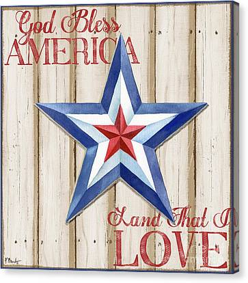 Patriotic Spirit Barn Star IIi Canvas Print by Paul Brent