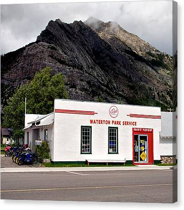 Canvas Print featuring the photograph Pat's Waterton Park Service by Trever Miller
