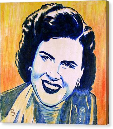 Patsy Cline Pop Art Painting Canvas Print by Bob Baker