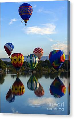 Pattern Of Six Canvas Print by Mike Dawson