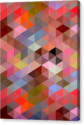 Pattern Of Triangle Canvas Print by Mark Ashkenazi